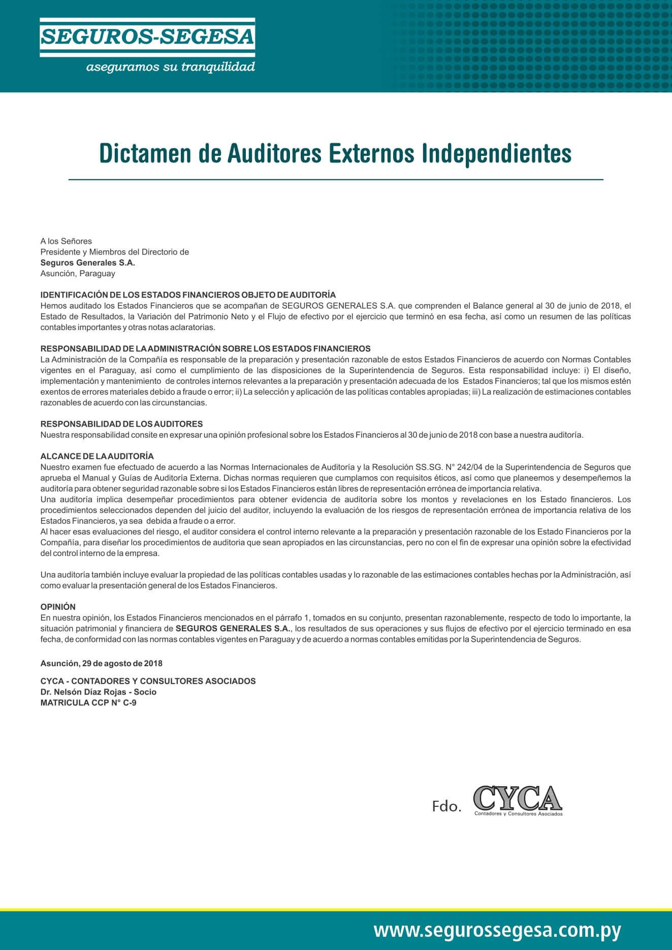 dictamen audictores 2018