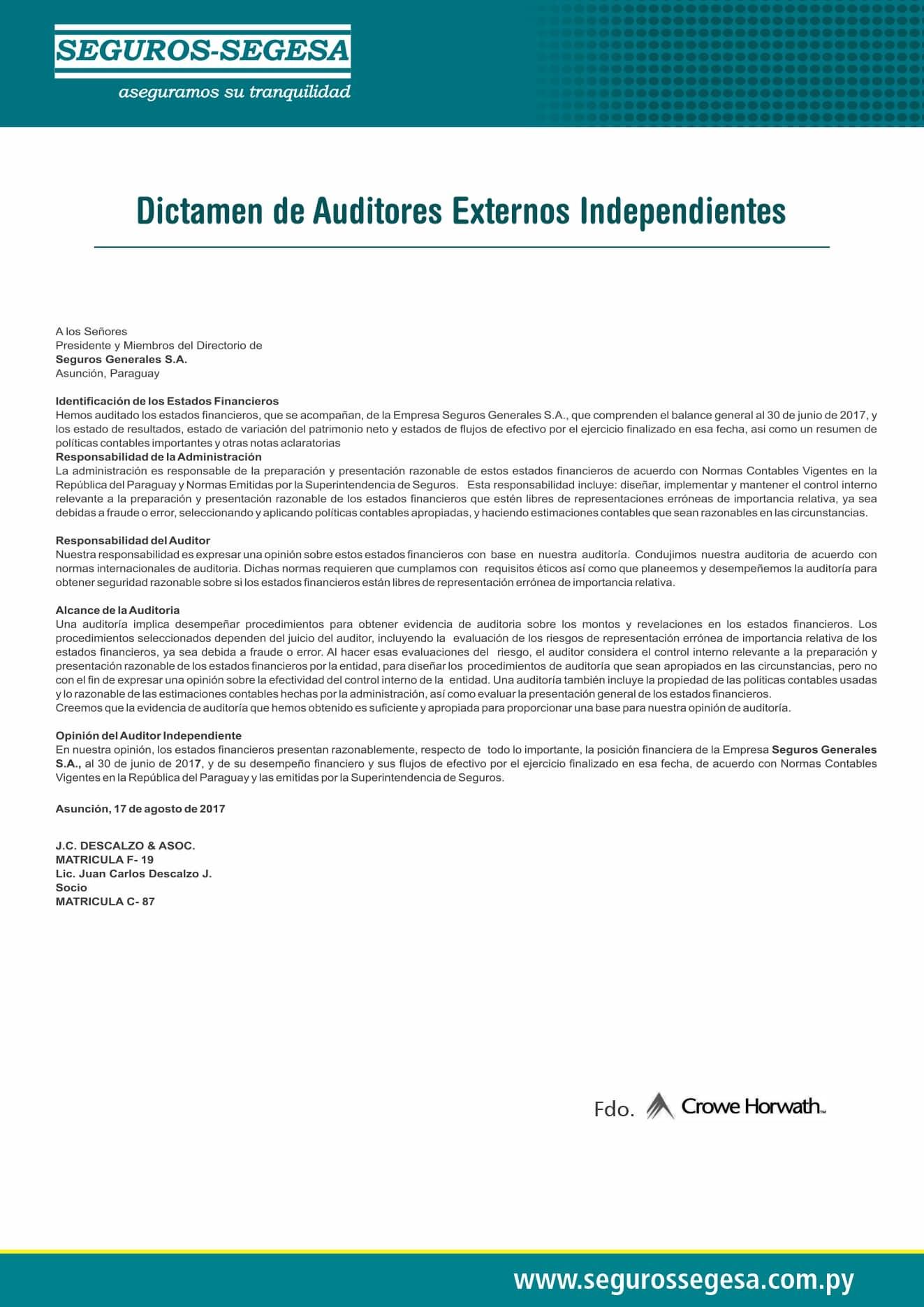dictamen de auditores 2017